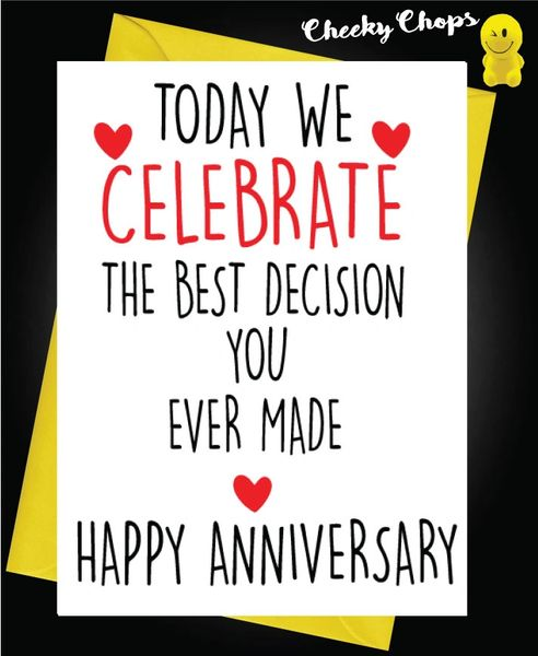 Anniversary Card - Best decision A40