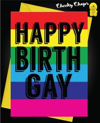 Birthday Card LGBT- Happy Birthgay L5