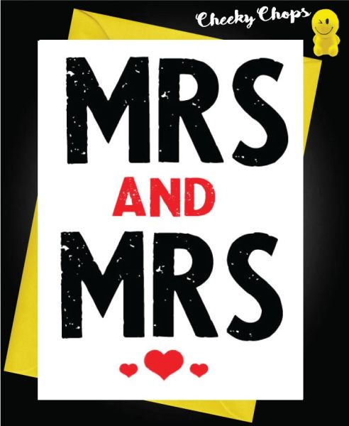 Wedding Cards LGBT- Mrs and Mrs L13