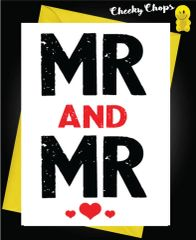 Wedding Cards LGBT- Mr and Mr L14