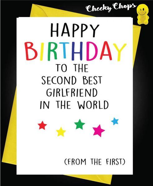 Birthday Card LGBT- Second best Girlfriend L15