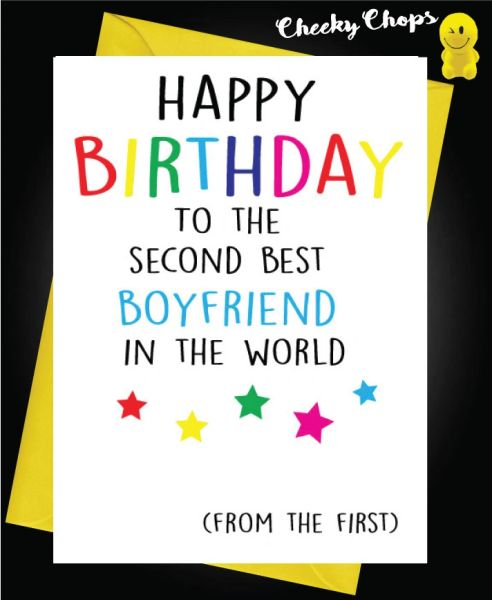 Birthday Card LGBT- Second best Boyfriend L16