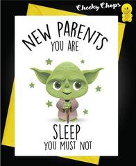 New Baby Card YODA SLEEP B7