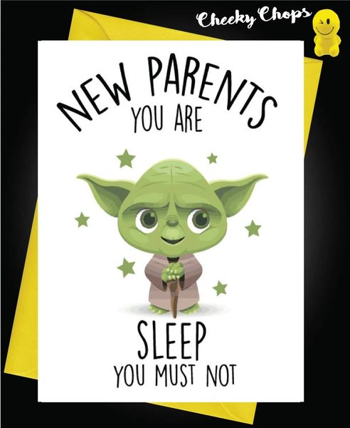 New Baby Card YODA SLEEP B7