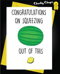 New Baby Card Squeezing B11