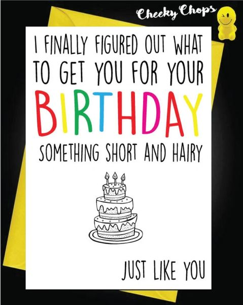 Birthday Card - Short and Hairy FF01