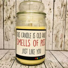 Wanky Candle - SMELLS OF PISS (16oz)