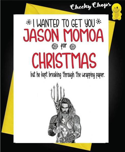 Jason Momoa Christmas Card - XM125