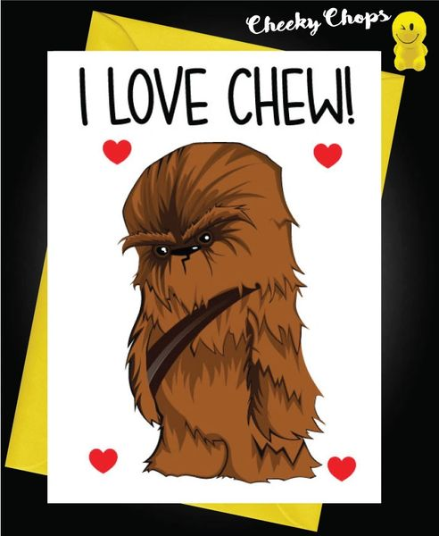 Funny Birthday Cards - I love Chew C139