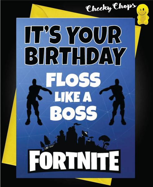 Funny Birthday Cards - Floss like a boss C142