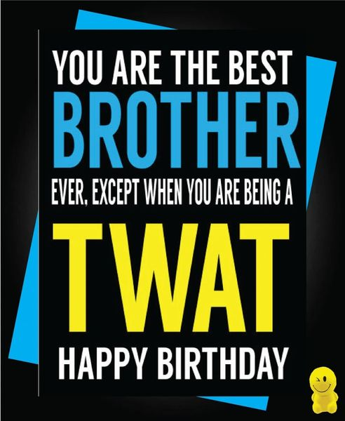 Funny Birthday Cards - Best Brother C485