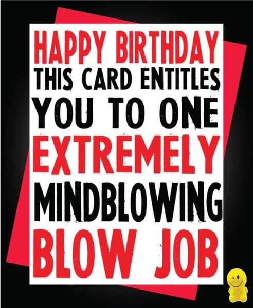 Funny Birthday Cards - BLOW JOB C180
