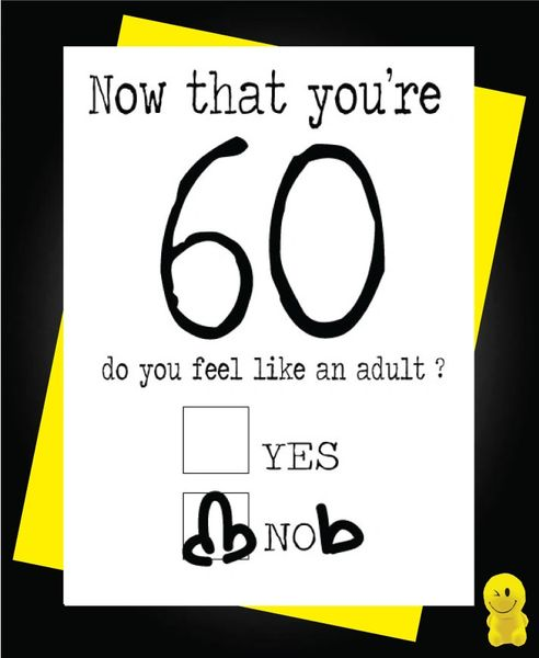Funny Birthday Cards - Now you're 60 C187