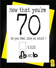 Funny Birthday Cards - Now you're 70 C189