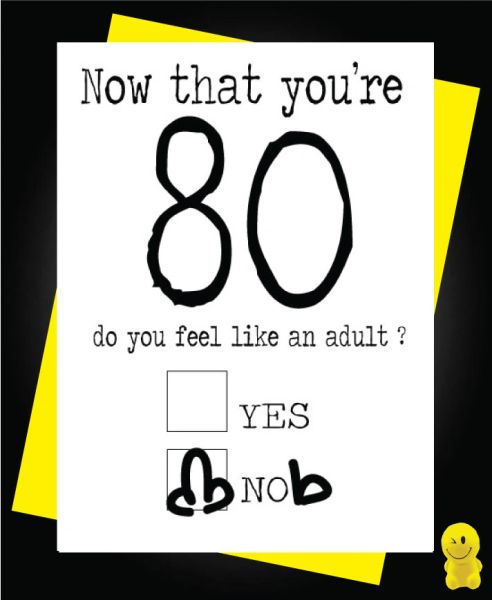 Funny Birthday Cards - Now you're 80 C190