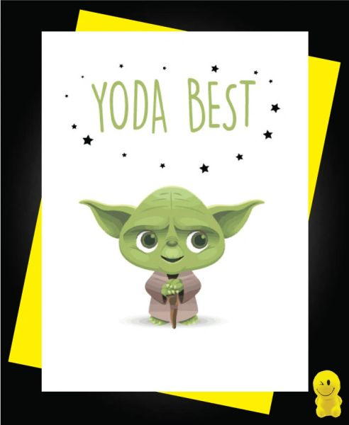 Funny Birthday Cards - YODA BEST C207