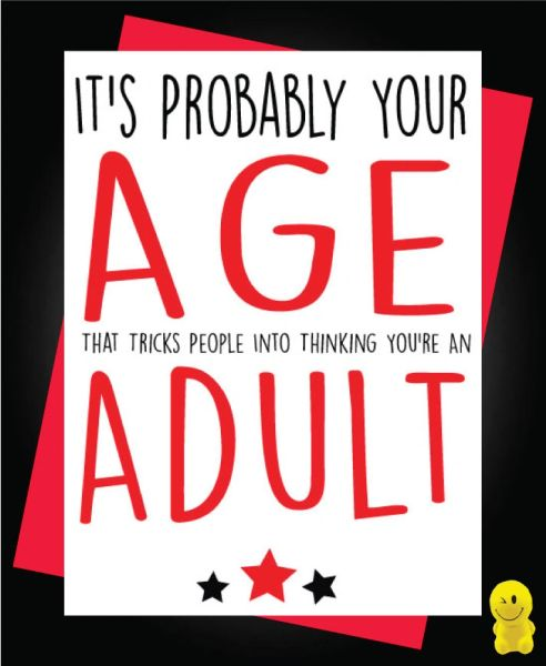 Funny Birthday Cards - Age that tricks people C210
