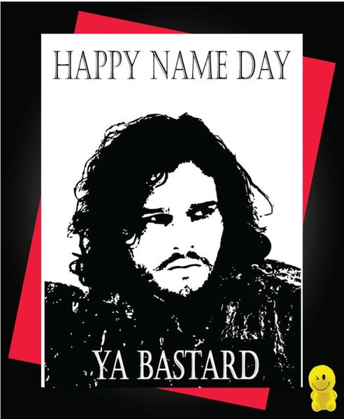 Game Of Thrones Jon Snow Bastard Son Customized Father/'s Day Card