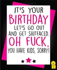 Funny Birthday Cards - Let's get shitfaced C246