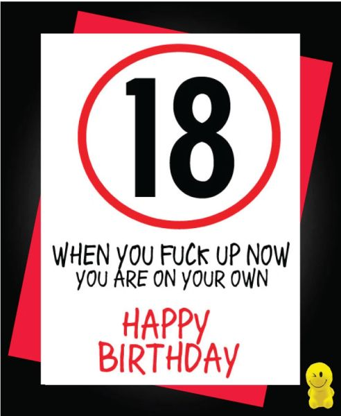 Funny Birthday Cards - 18th Birthday You are on your own C264