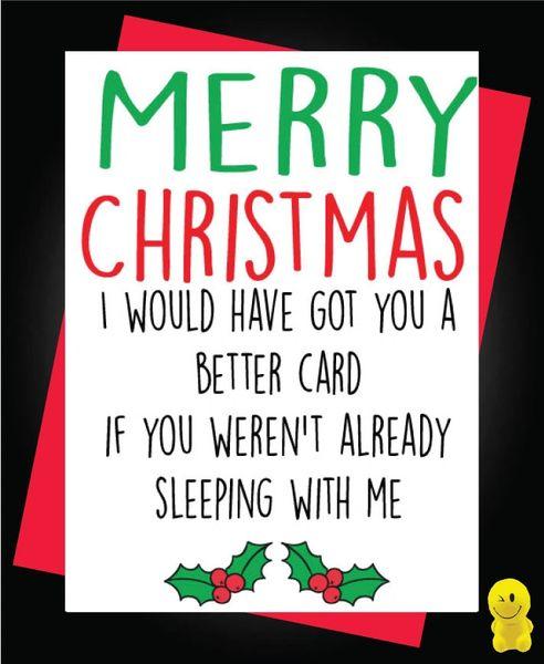 Funny Christmas Cards - Boyfriend / Girlfriend - Sleeping With Me - XM92