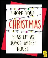 Funny Christmas Cards - Stranger Things Joyce Byers - Christmas XM98