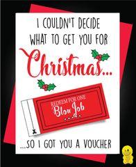 Funny Christmas Cards - Voucher XM100