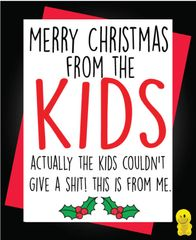 Funny Christmas Cards - Merry Christmas from the kids XM164