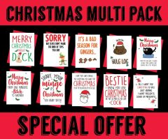 EXTRA SPECIAL OFFER 10 RUDE XMAS CARDS FOR £10