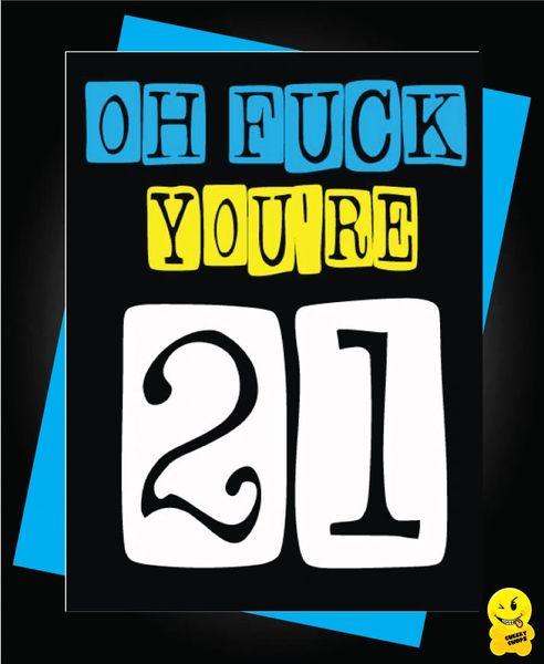 21st Birthday Male Oh Fuck C279