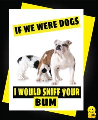 If we were dogs i'd sniff your bum C362