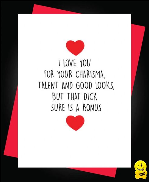 Card - I love you for your charisma - A43