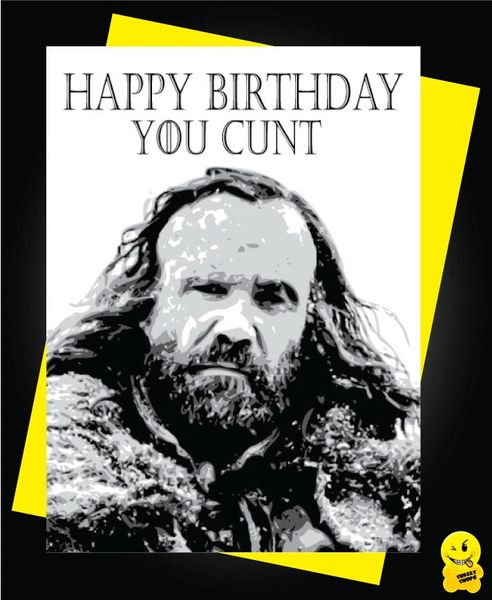 Game of Thrones Birthday Card - The hound c363