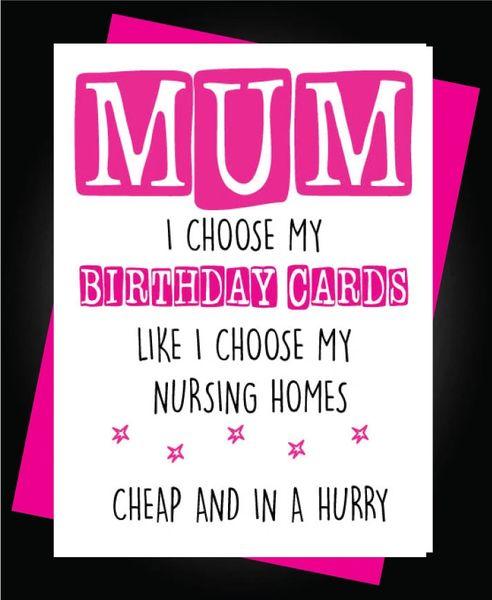 Mum Nursing Home HUMOUR Funny Rude C803