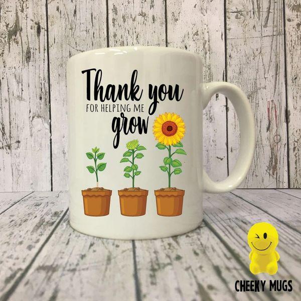 Teacher Mug - Thank You For Helping Me Grow - MUGK16