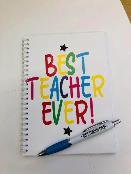 A5 Notepads and Pen - Best Teacher ever