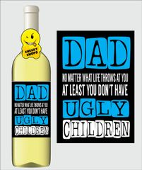 Fathers Day Wine Label F6