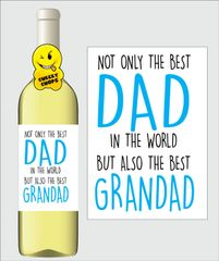 Fathers Day Wine Label F31