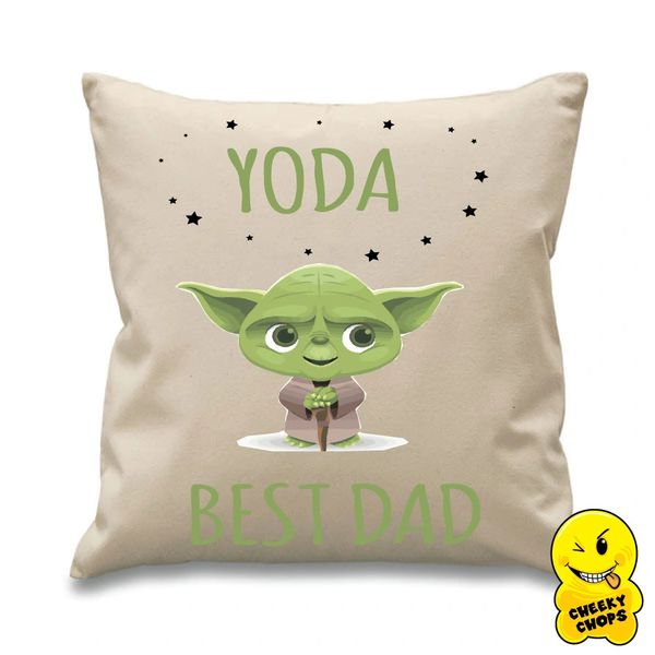 Fathers day Cushion Cover Yoda Best