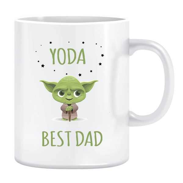 Fathers day Mug - Yoda Best Dad -MUG F1