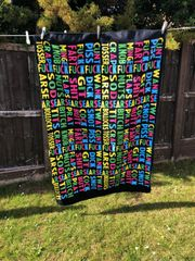 LARGE printed beach towel - SWEARING ALL THE WAY