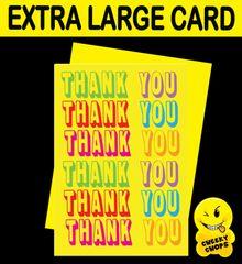 Jumbo Extra Large Card - Thank You