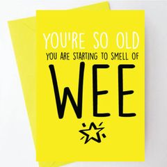 YOU'RE SO OLD YOU ARE STARTING TO SMELL OF WEE - BC07