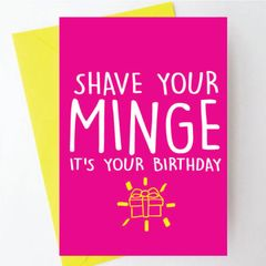 Shave your minge it's your birthday BC18