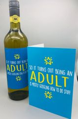 Card and Wine Label Gift Set - Adult Google Stuff BC24WL