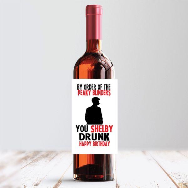 Peaky Blinders Wine Label