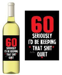 Novelty Wine bottle label Gift Let's drink red wine because UB40 WL10