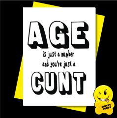 Age is just a number and you're just a cunt