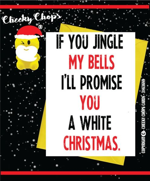 Funny Christmas Card If you jingle my balls - XM79