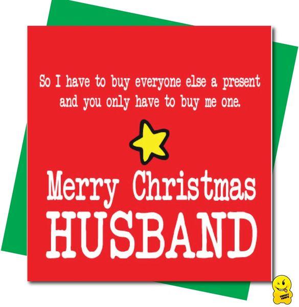 Funny Christmas Card - Merry Christmas husband XM226